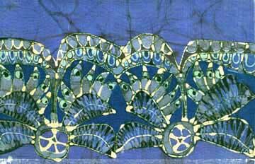 Blue Silk Batik