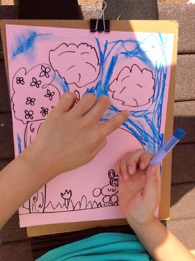 drawing of garden by first grader