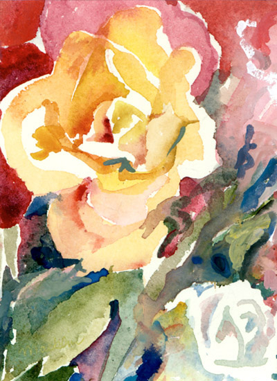 Yellow Rose | watercolor